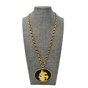 Vintage Celebrity New York Gold Pendent Necklace